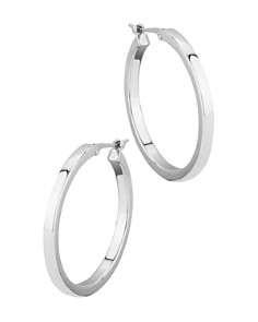 Bloomingdale's - Square Tube Hoop Earrings in 14K White Gold - 100% Exclusive