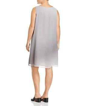 Eileen Fisher Plus - Ombré Silk Shift Dress