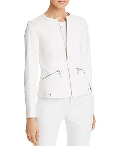 Lafayette 148 New York - Cairo Cropped Leather Jacket
