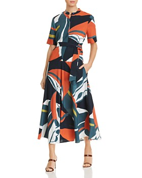 9f42a695d1b Lafayette 148 New York - Augustina Abstract-Print Belted Shirt Dress ...
