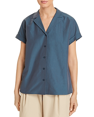 Lafayette 148 Tops BEATRICE BUTTON-FRONT BLOUSE