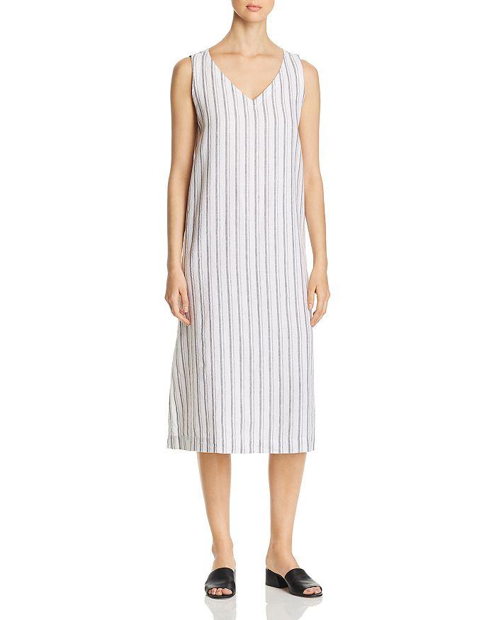 Eileen Fisher Petites - Organic Cotton Sleeveless Striped Dress - 100% Exclusive