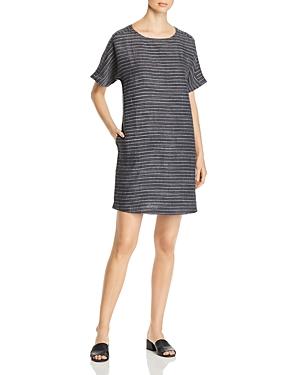 Eileen Fisher Dresses STRIPED SHORT-SLEEVE SHIFT DRESS