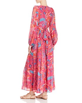 Banjanan - Laura Silk V-Neck Maxi Dress