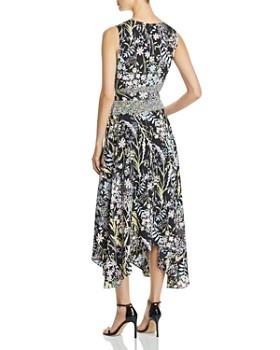 Calvin Klein - Mixed-Print Handkerchief-Hem Dress