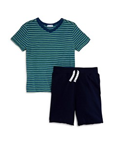 Splendid - Boys' Stripe Tee & Drawstring Shorts Set - Little Kid