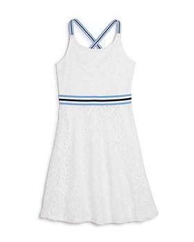 a32ef82392b US Angels - Girls  Striped-Trim Lace Dress - Big Kid ...