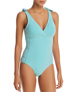 Ralph Lauren - Seersucker Striped One Piece Swimsuit
