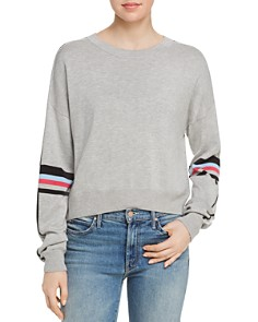 AQUA - Striped-Sleeve Sweater - 100% Exclusive