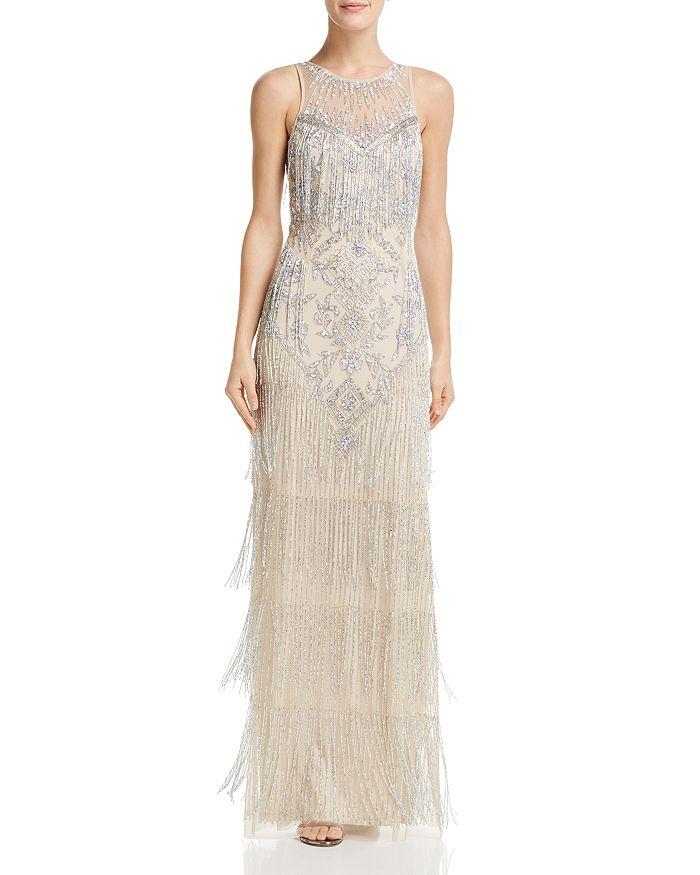 Aidan Mattox - Embellished Fringe Gown
