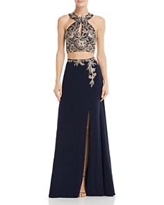 Avery G - Embellished Two-Piece Gown