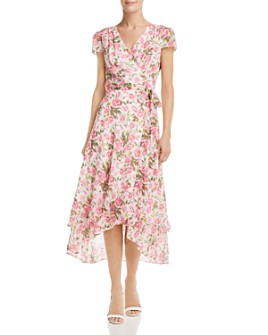 Betsey Johnson - Rose-Print Wrap Dress
