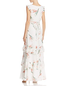 Fame and Partners - Flounced Floral Gown - 100% Exclusive