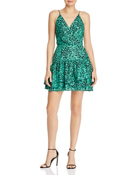 WAYF - Tombly Ruffled Leopard Print Mini Dress
