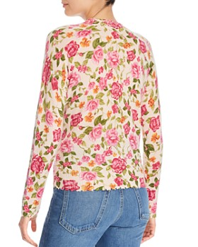 Minnie Rose - Distressed Floral Sweater