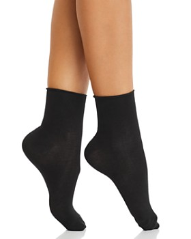HUE - Ultralite Roll-Top Shortie Socks