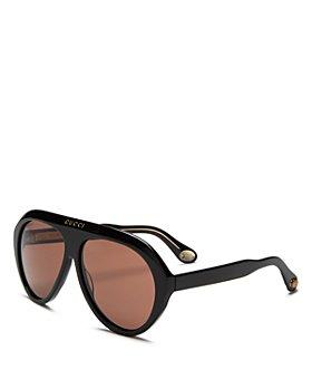 Gucci - Men's Shield Aviator Sunglasses, 61mm