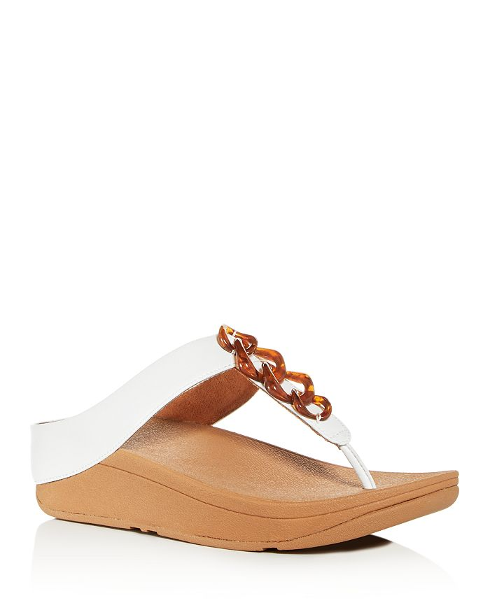 FitFlop - Women's Fino Embellished Platform Thong Sandals