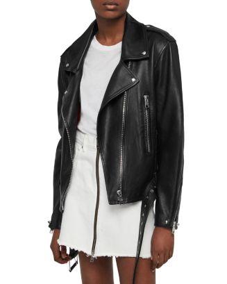 Annina Leather Biker Jacket by Allsaints