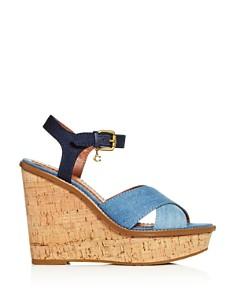 COACH - Women's Crisscross Platform Wedge Sandals