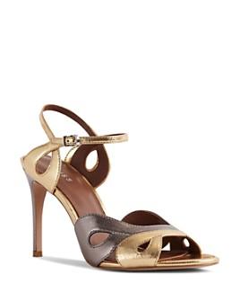 REISS - Women's Savona Two-Tone High-Heel Sandals