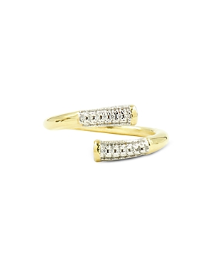 Freida Rothman Radiance Twisted Matchstick Ring in 14K Gold-Plated & Rhodium-Plated Sterling Silver