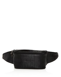 Longchamp - Croc-Embossed Leather Belt Bag