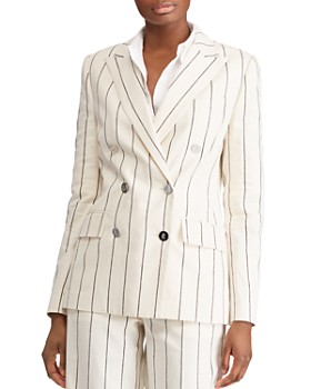 Ralph Lauren - Striped Double-Breasted Blazer