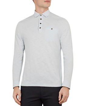 Ted Baker - Hoper Woven-Collar Regular Fit Polo Shirt