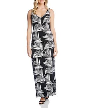 Karen Kane Dresses SLEEVELESS PALM-PRINT MAXI DRESS