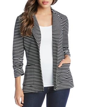 Karen Kane - Striped Shirred-Sleeve Blazer