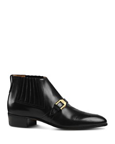 Gucci - Men's Worsh Leather Brogue Boots