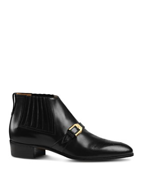 Gucci - Men's Worsh Brogue Leather Boots