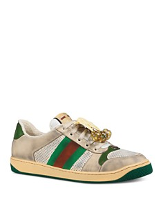 Gucci - Men's Screener White Low-Top Sneakers With Removable Cherries