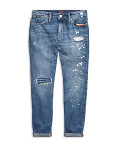 Ralph Lauren - Girls' Distressed Boyfriend Slim-Fit Jeans - Big Kid
