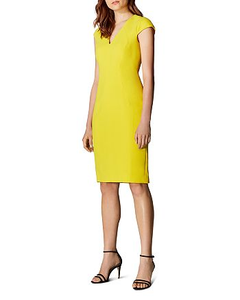 KAREN MILLEN - Angular Seamed Sheath Dress