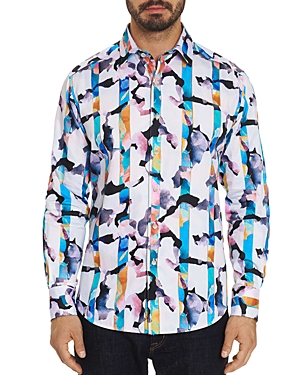 Robert Graham T-shirts ABSTRACT STRIPED CLASSIC FIT SHIRT