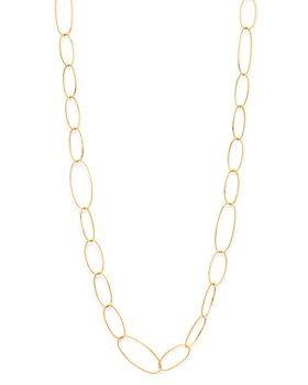 Roberto Coin - 18K Yellow Gold Princess Oval Link Necklace, 40""
