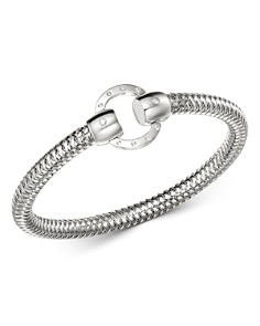 Roberto Coin - 18K White Gold Primavera Diamond Circle Stretch Bangle Bracelet