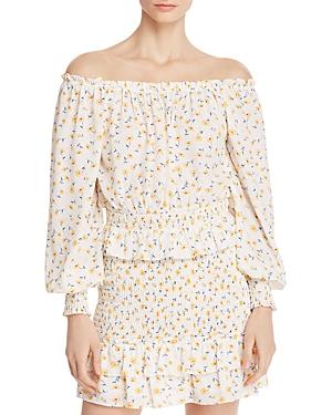 Helen Owen x Aqua Floral Smocked Top - 100% Exclusive