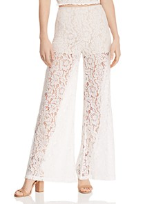 AQUA - Wide-Leg Lace Pants - 100% Exclusive