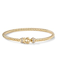David Yurman - Buckle Bracelet in 18K Yellow Gold with Diamonds