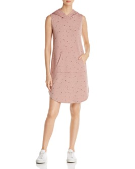 B Collection by Bobeau - Sleeveless Star-Print Hoodie Dress