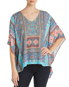 Tolani - Printed Dolman-Sleeve Top