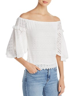 Red Haute - Off-the-Shoulder Lace Top