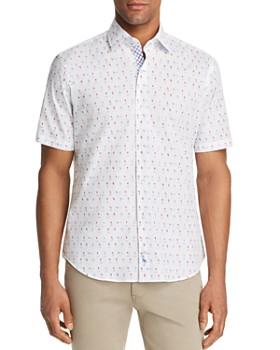 TailorByrd - Short-Sleeve Golf-Print Classic Fit Shirt