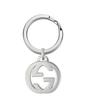 Gucci - Sterling Silver Interlocking G Key Ring