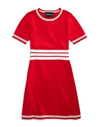 Armani - Girls' Racer-Stripe Sweater Dress - Little Kid, Big Kid