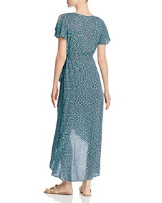Band of Gypsies - Martinique Floral Maxi Wrap Dress