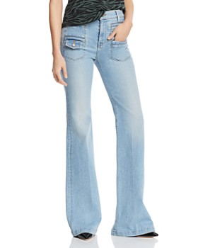 62c4f0ccc850cd 7 For All Mankind - Georgia Flare Jeans in Roxy Lights ...